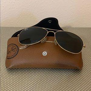 Ray ban Sunglasses- Black lens, gold rim
